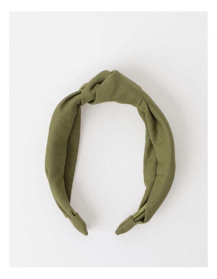 Knot Turban Khaki Headband image 2