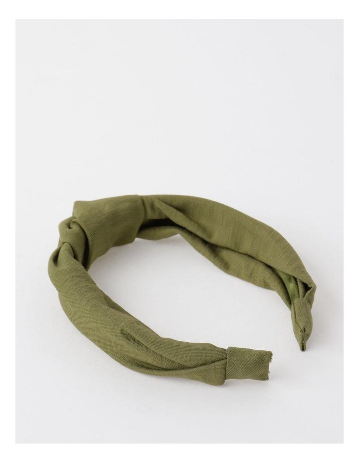 Knot Turban Khaki Headband image 3
