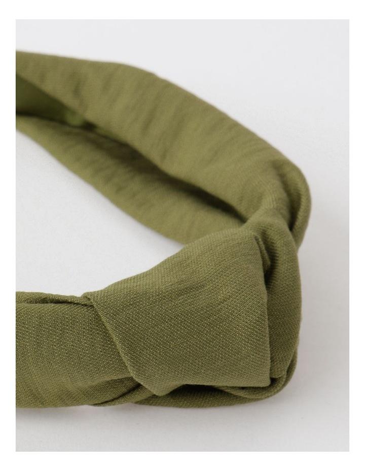 Knot Turban Khaki Headband image 4