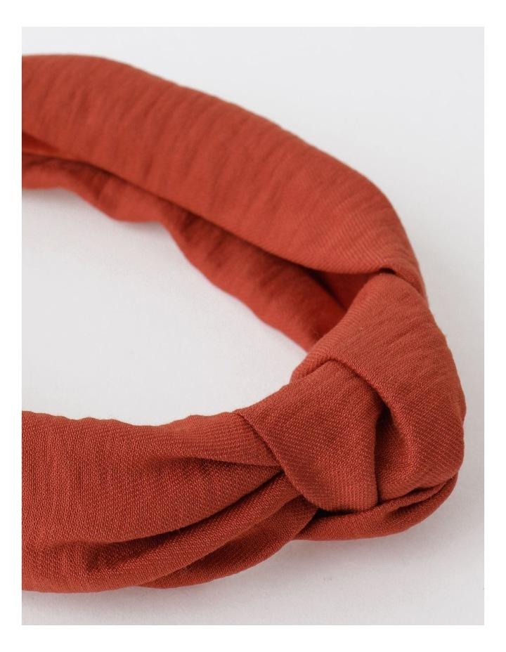 Knot Turban Rust Headband image 4