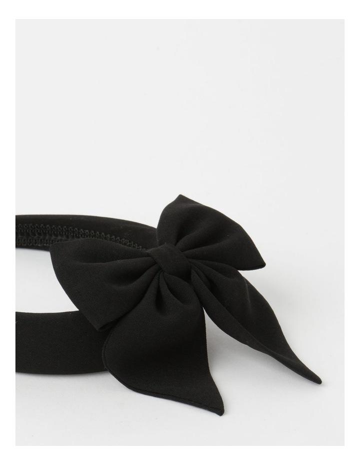 2 Pack Black Matching Headband/Hair Tie Set image 4