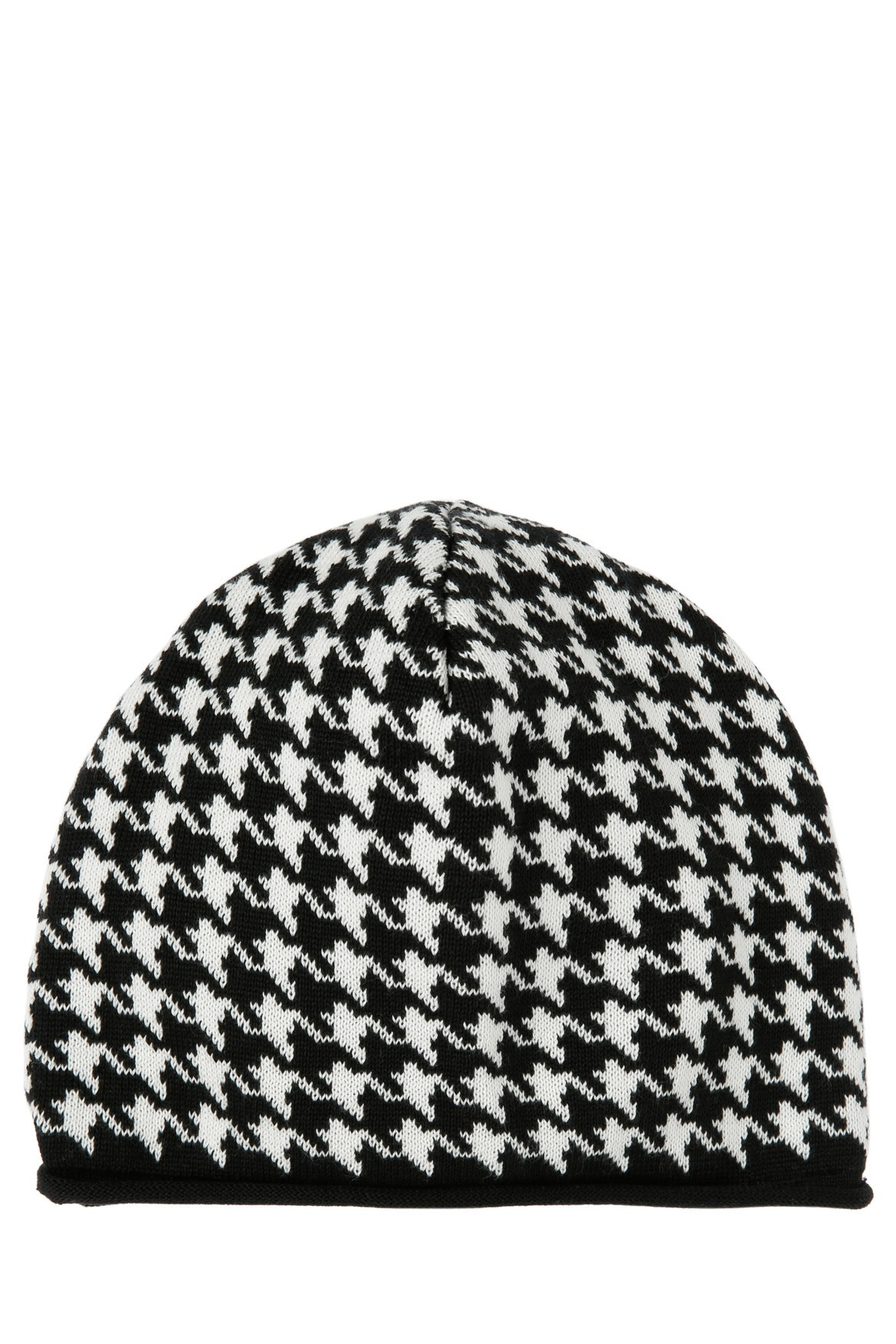 Piper | Houndstooth Black/White Knitted Beanie | Myer Online