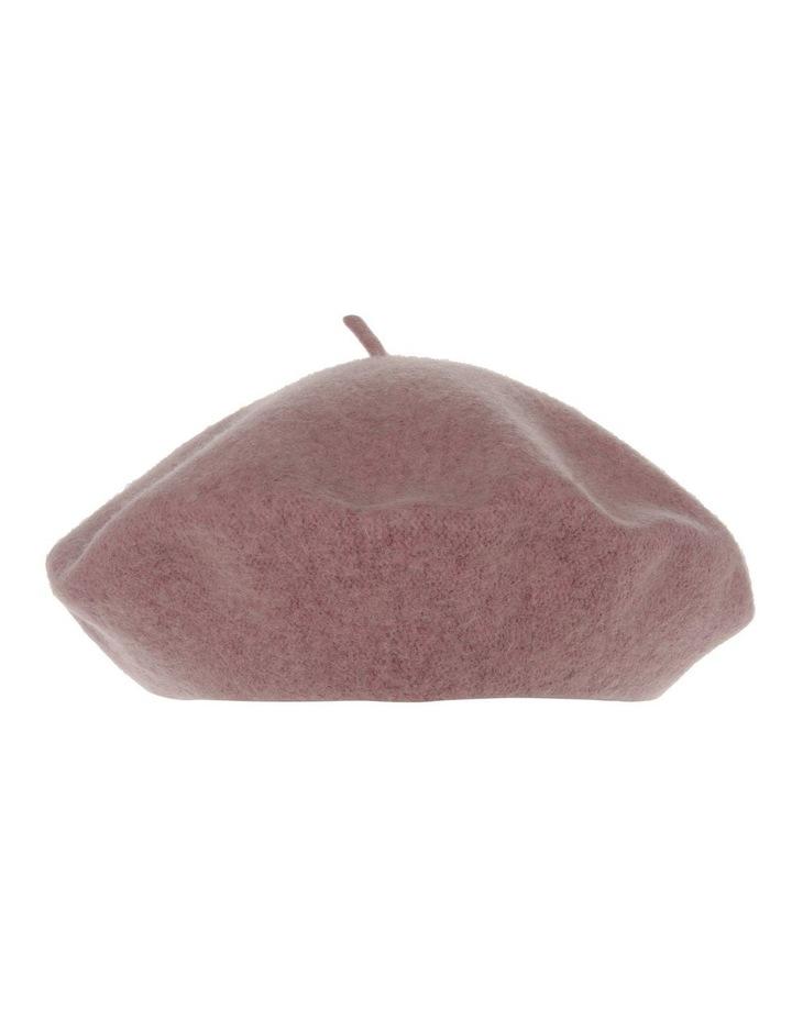 Blush Solid Wool-Blend Beret image 1