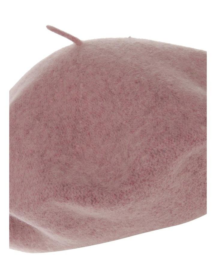Blush Solid Wool-Blend Beret image 3