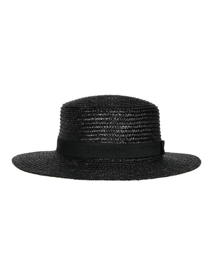 Straw Boater Black Summer Hats image 1