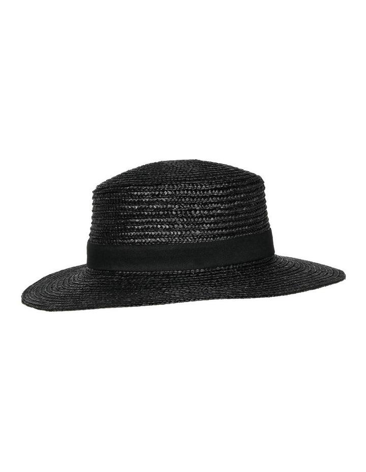 Straw Boater Black Summer Hats image 2