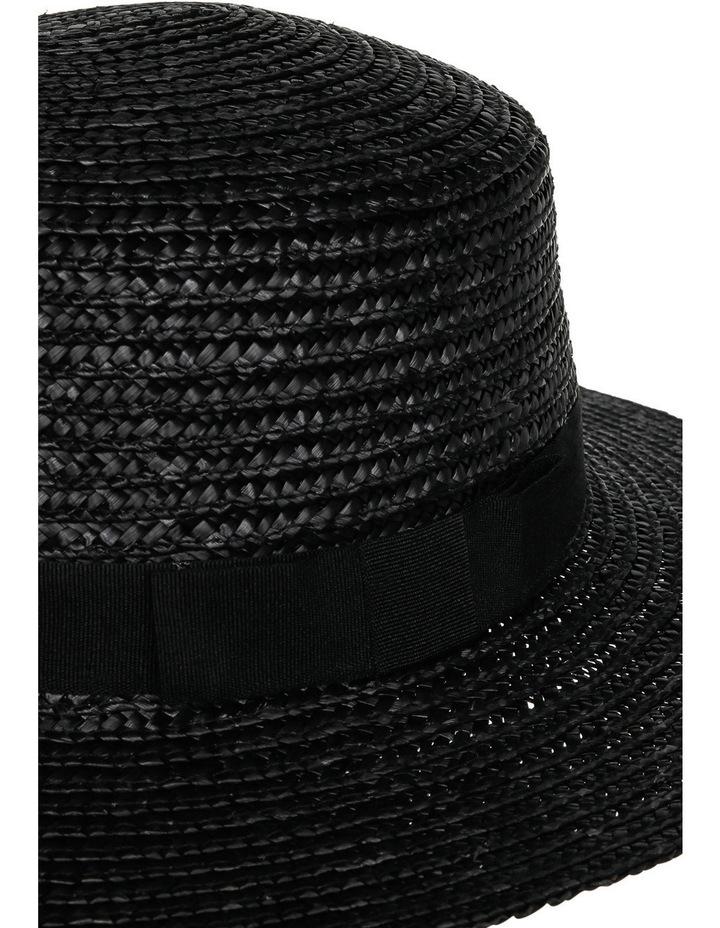 Straw Boater Black Summer Hats image 3