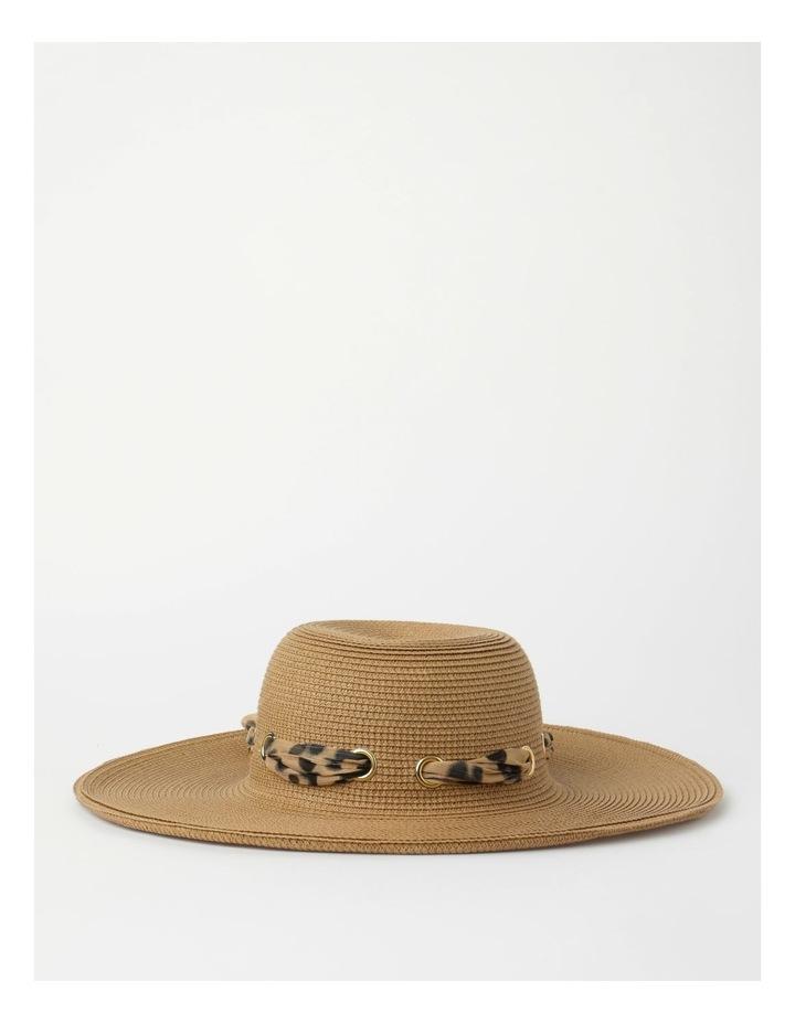 Bow Natural Summer Hat image 1