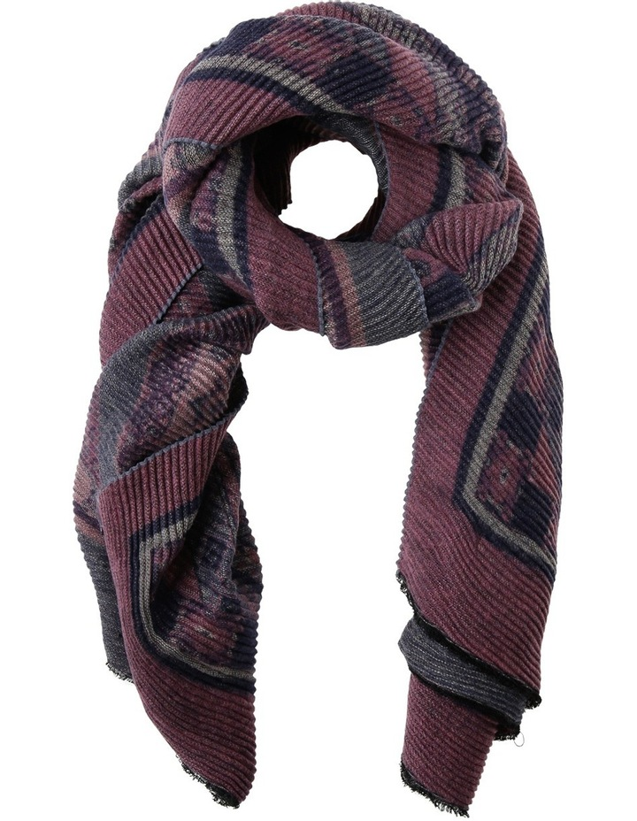 Pleated Printed Winter Scarf image 1