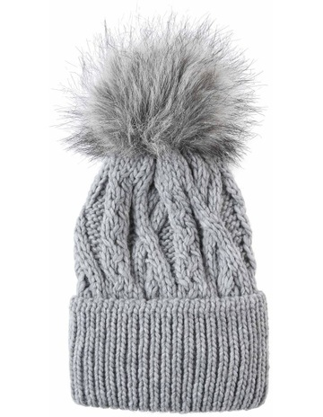 e1abcacb52896 Piper Cable Knit Pom Pom Beanie Winter Hats