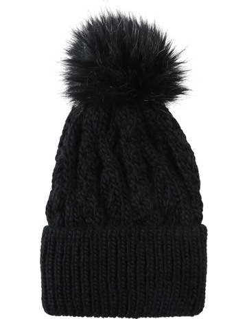 047834279ecec Piper Cable Knit Pom Pom Beanie Winter Hats