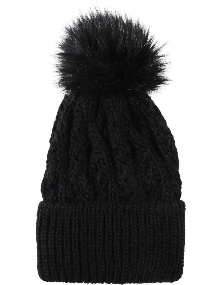 Cable Knit Pom Pom Beanie Winter Hats image 1