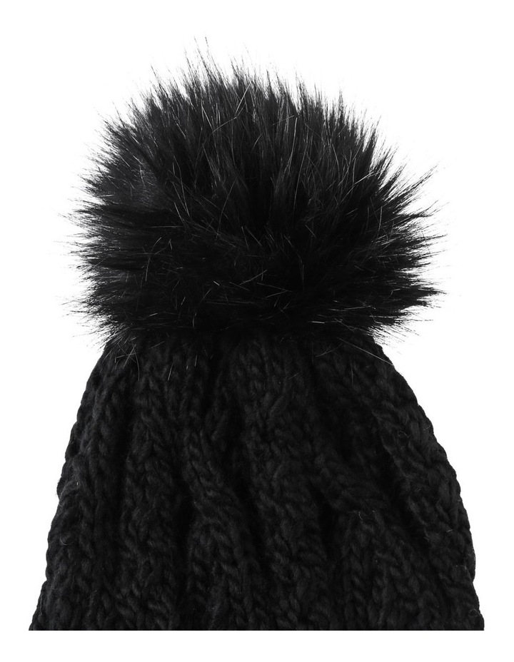 Cable Knit Pom Pom Beanie Winter Hats image 2