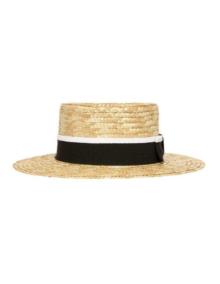 Boater With Grosgrain Ribbon Summer Hat image 1