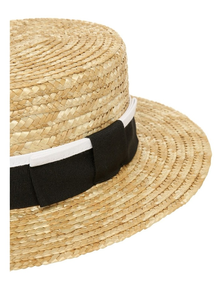 Boater With Grosgrain Ribbon Summer Hat image 3