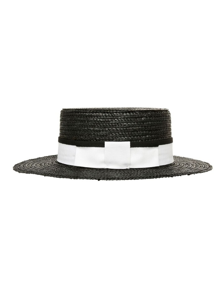 Boater With Grosgrain Ribbon Summer Hat image 2
