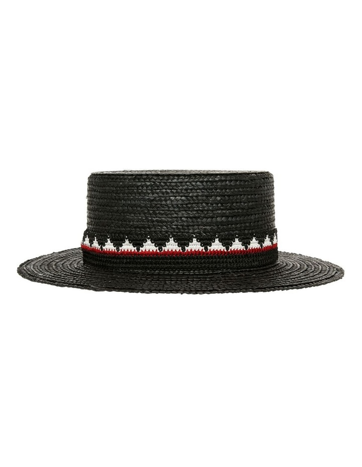 High Boater Hat With Pattern Trim Summer Hat image 2