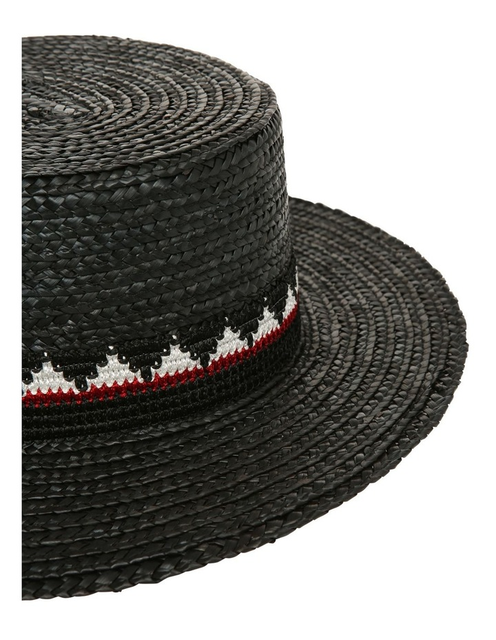 High Boater Hat With Pattern Trim Summer Hat image 3