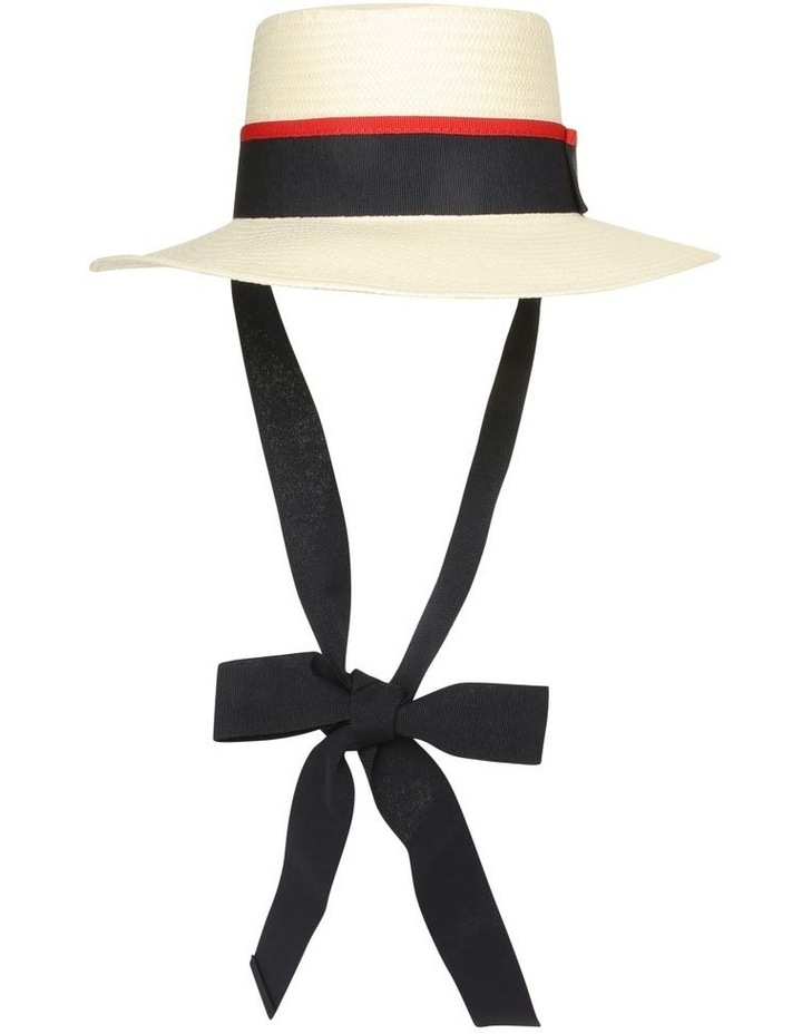 Boater With Ribbon Summer Hat image 1