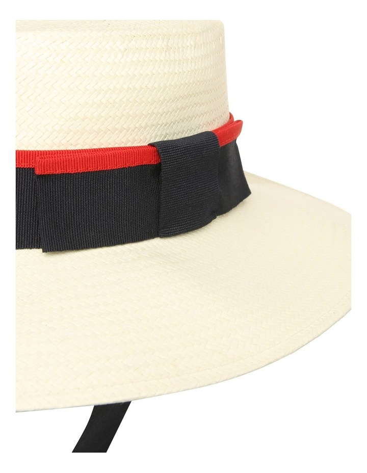 Boater With Ribbon Summer Hat image 3