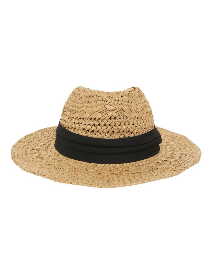 Woven Fedora With Trim image 1