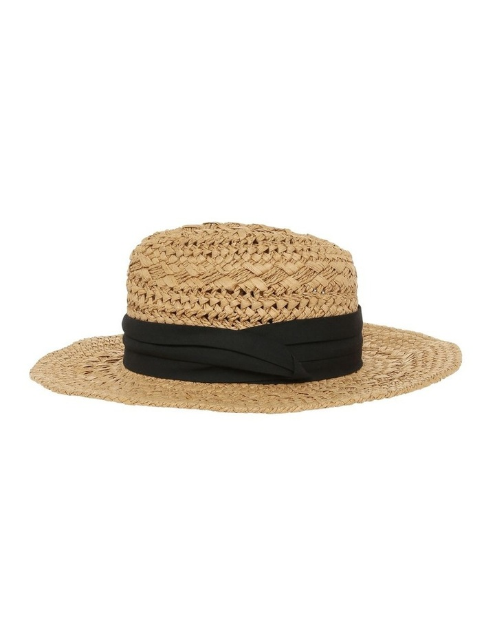 Woven Fedora With Trim image 2