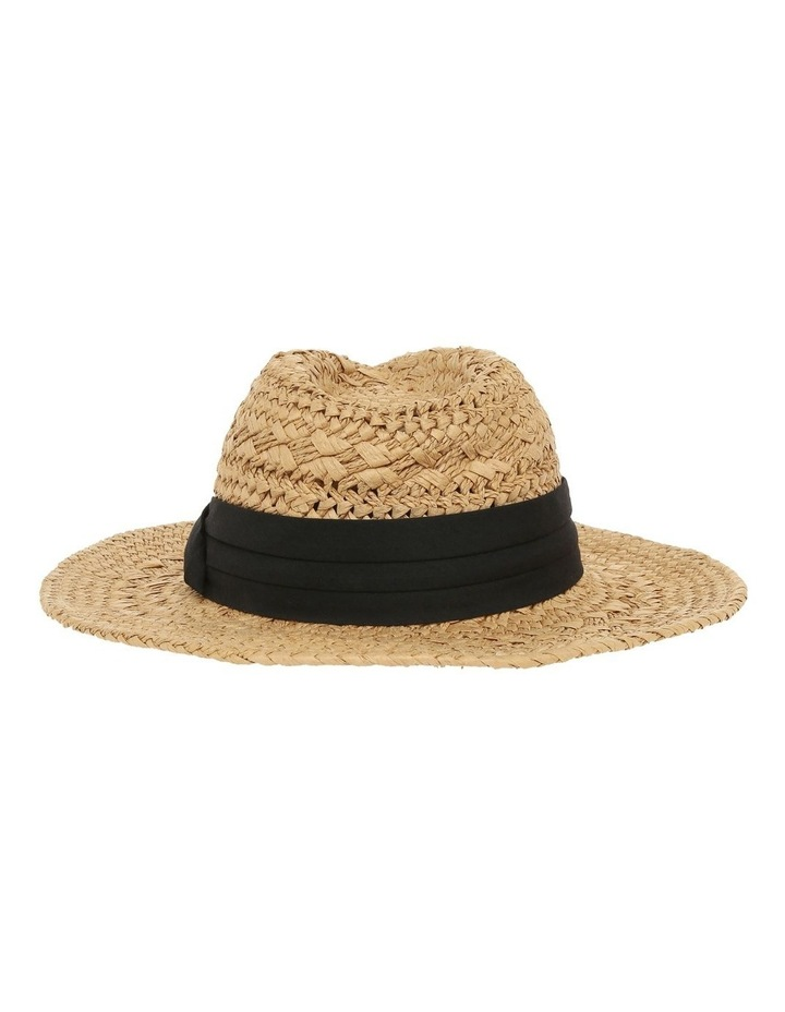 Woven Fedora With Trim image 3