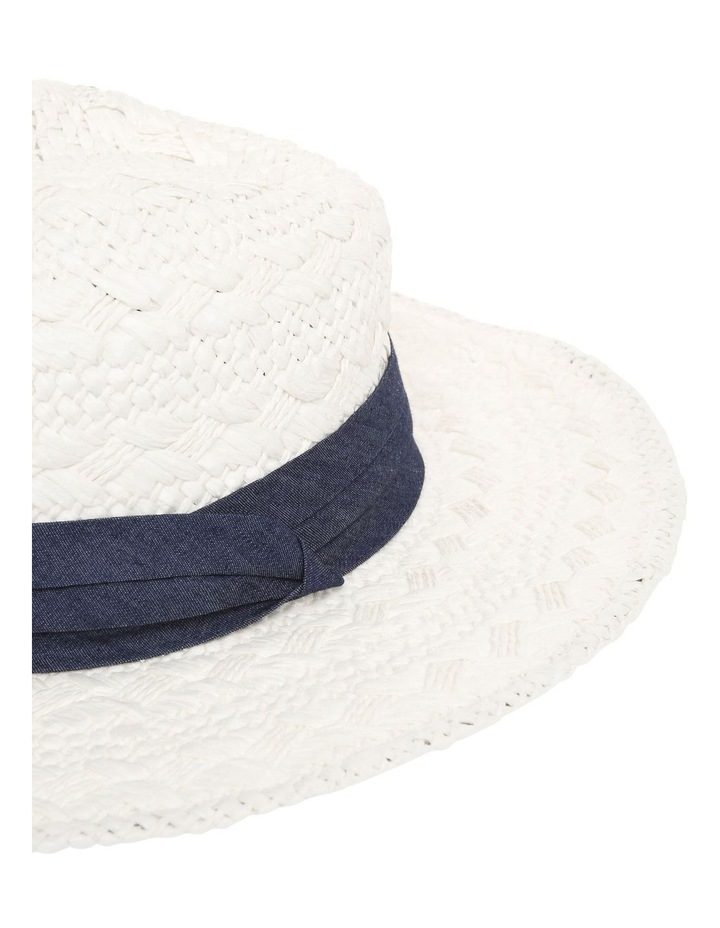 Woven Fedora With Trim image 4