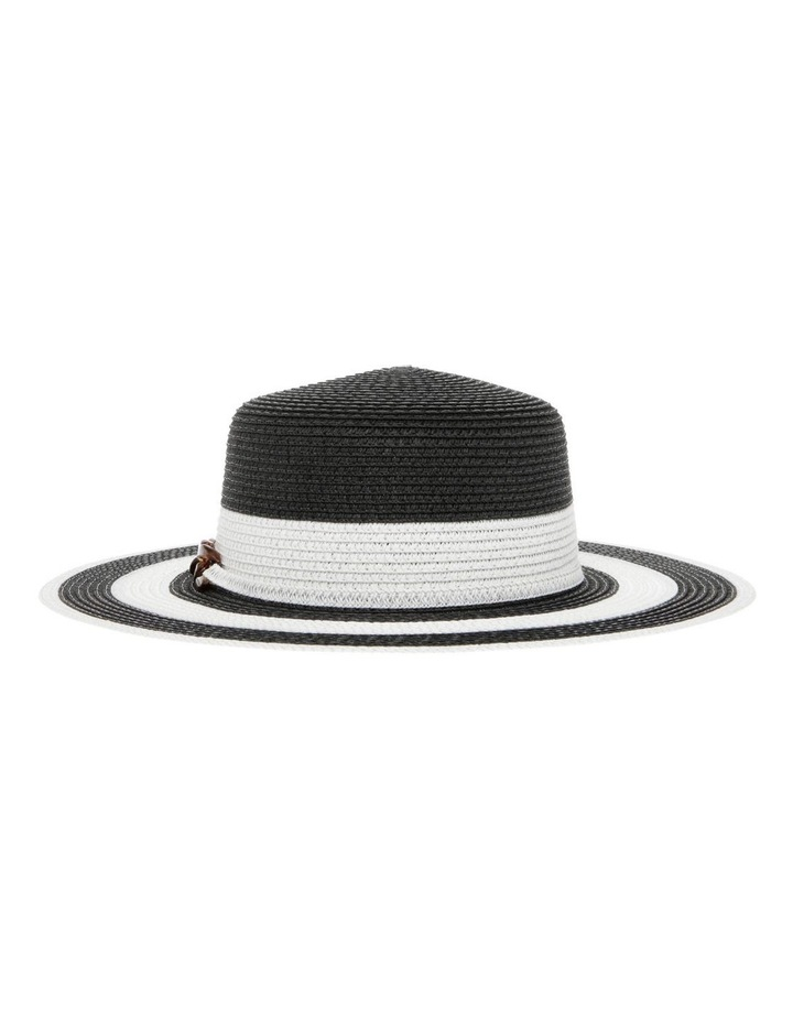 Striped Hat With Embellishment image 1