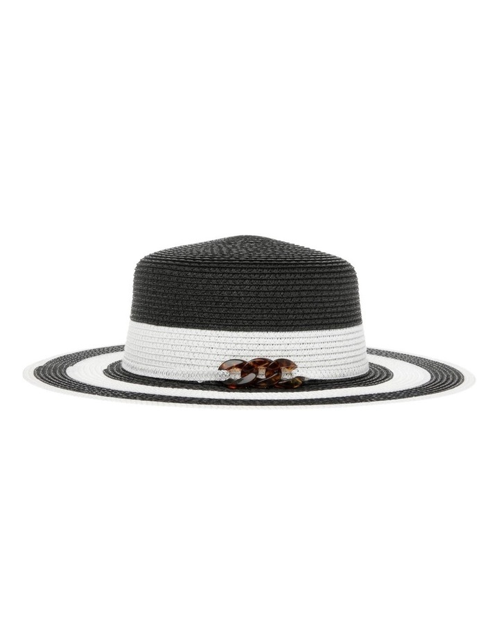 Striped Hat With Embellishment image 2