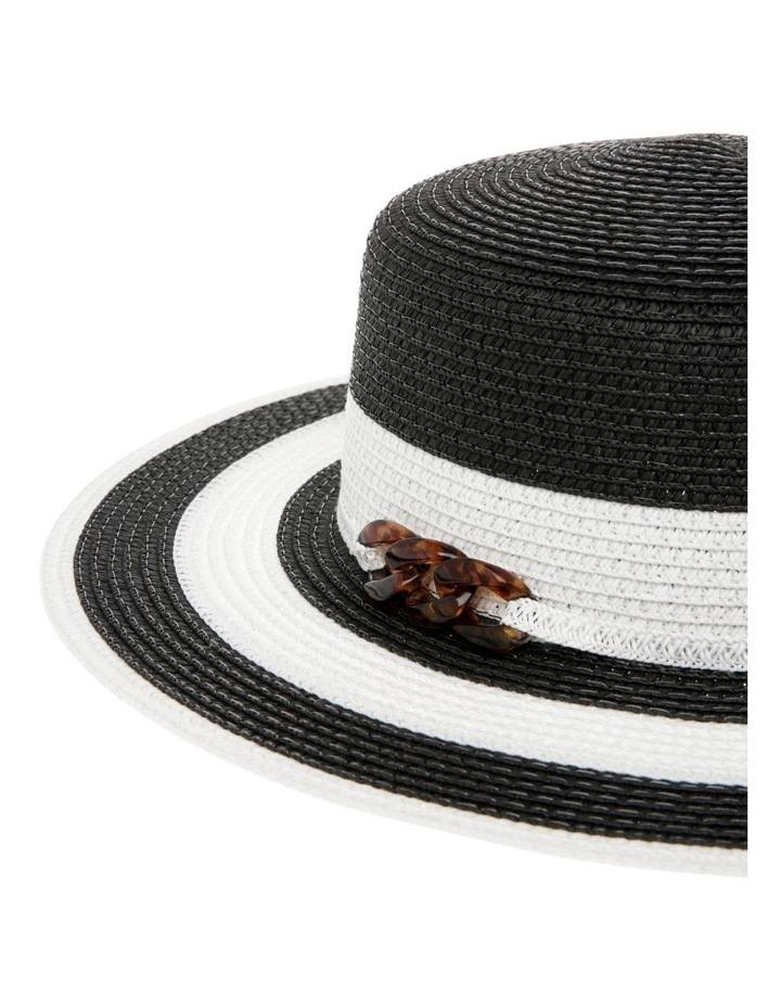 Striped Hat With Embellishment image 3
