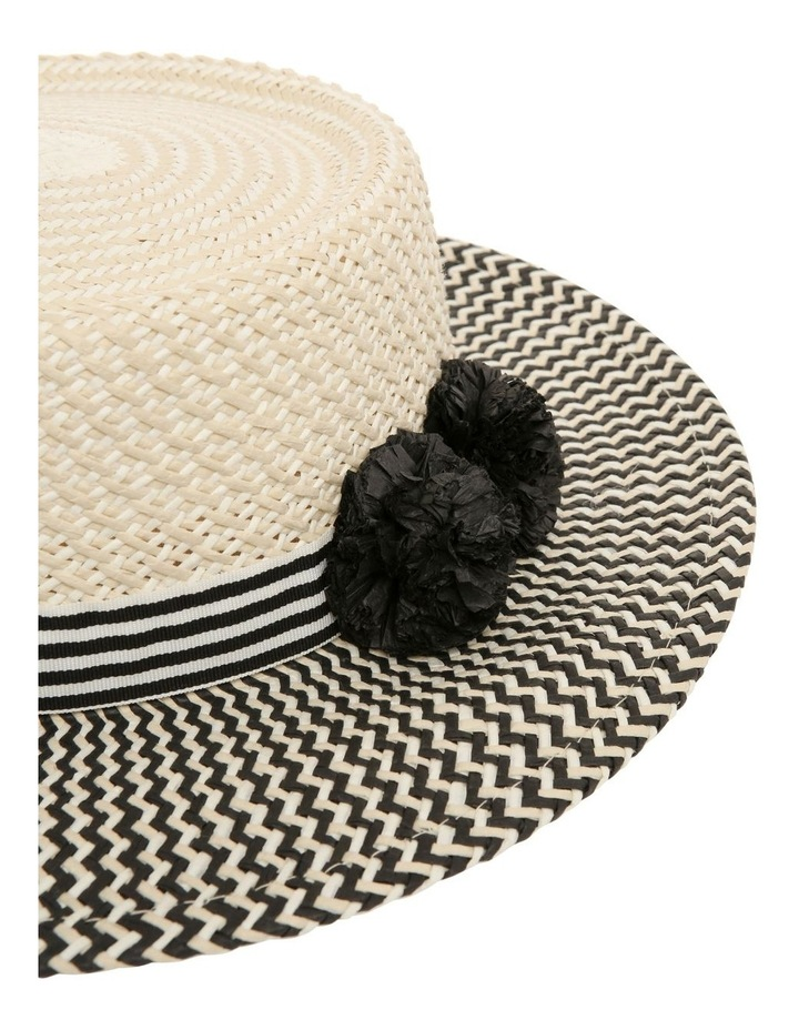 Two Tone Pom Boater image 3