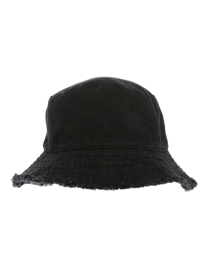 Frayed-Edge Denim Bucket Hat image 1