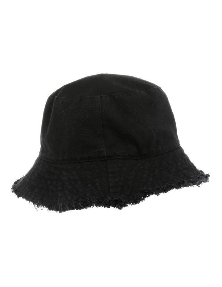Frayed-Edge Denim Bucket Hat image 2