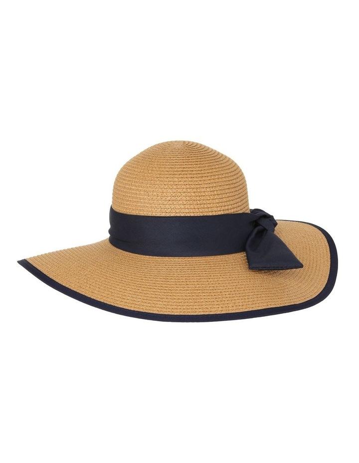 Contrast Trim Wide Brim Summer Hats image 1