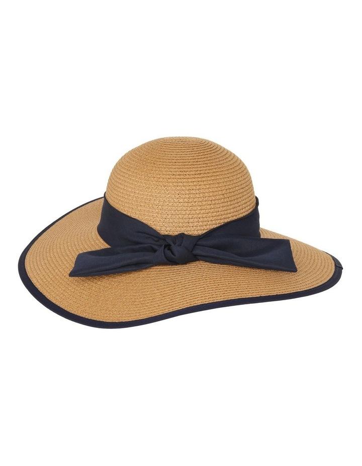 Contrast Trim Wide Brim Summer Hats image 2