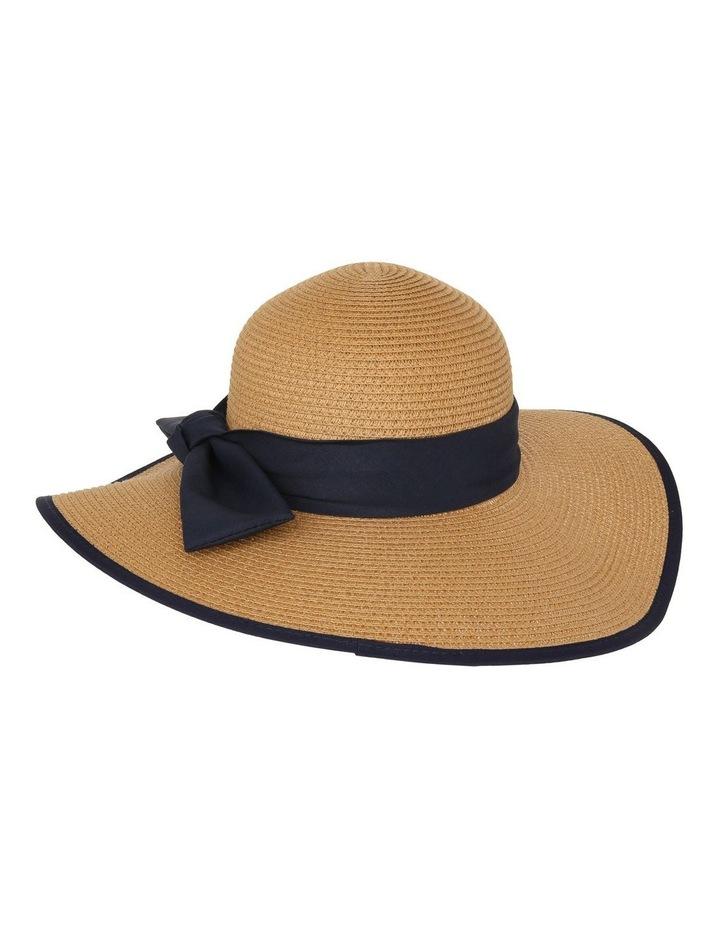Contrast Trim Wide Brim Summer Hats image 3