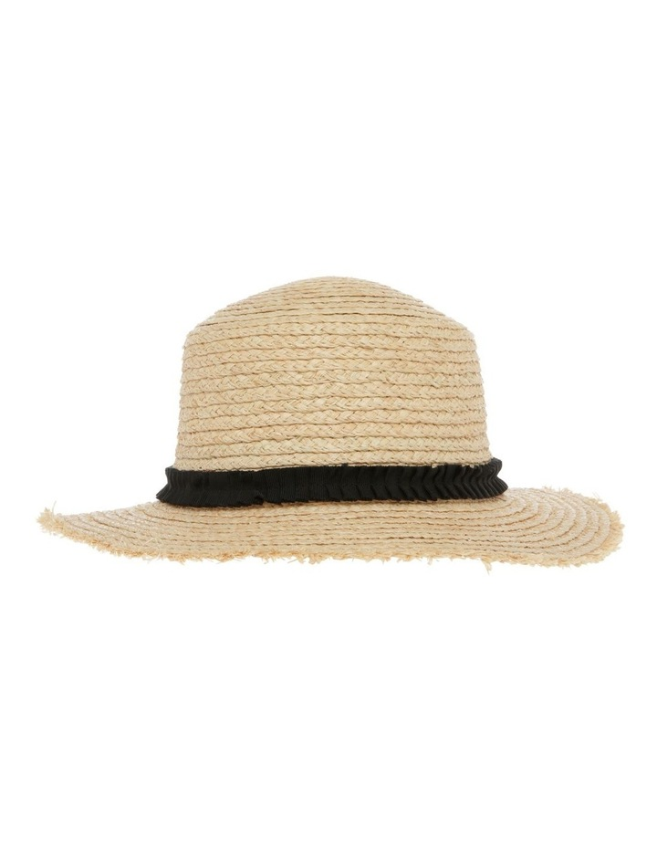 Raw Edge Raffia Boater Summer Hats image 1