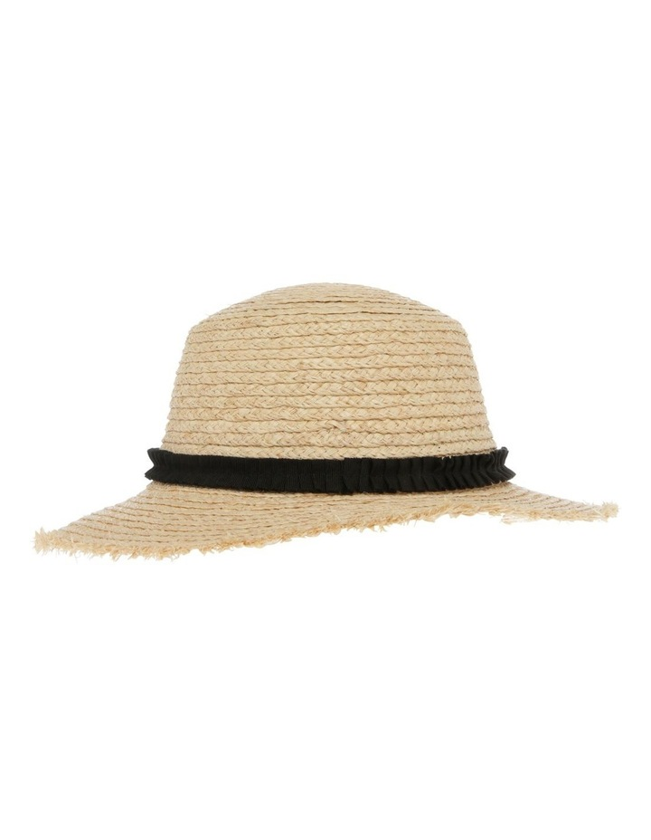 Raw Edge Raffia Boater Summer Hats image 2