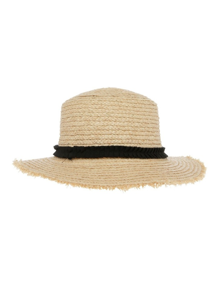 Raw Edge Raffia Boater Summer Hats image 3