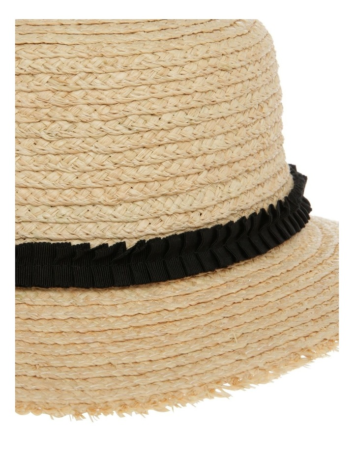 Raw Edge Raffia Boater Summer Hats image 4