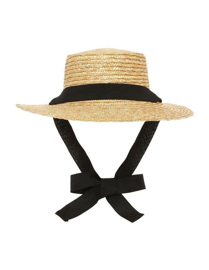 Summer Boater Hat with Sash Tie image 1