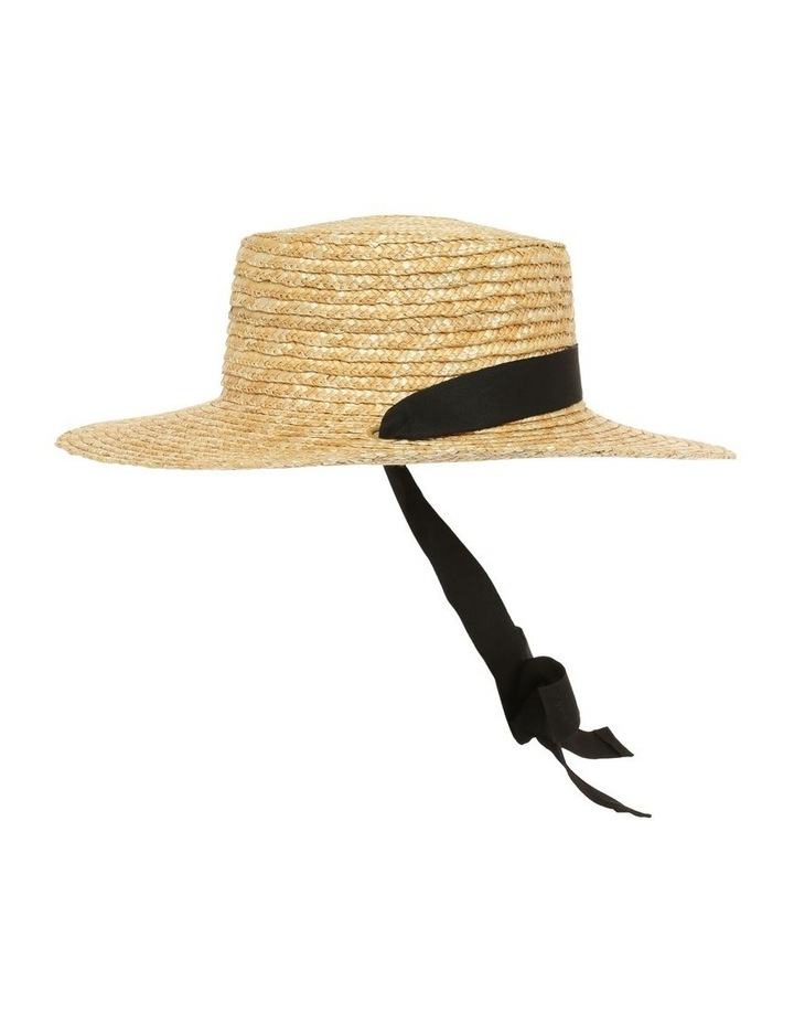 Summer Boater Hat with Sash Tie image 2