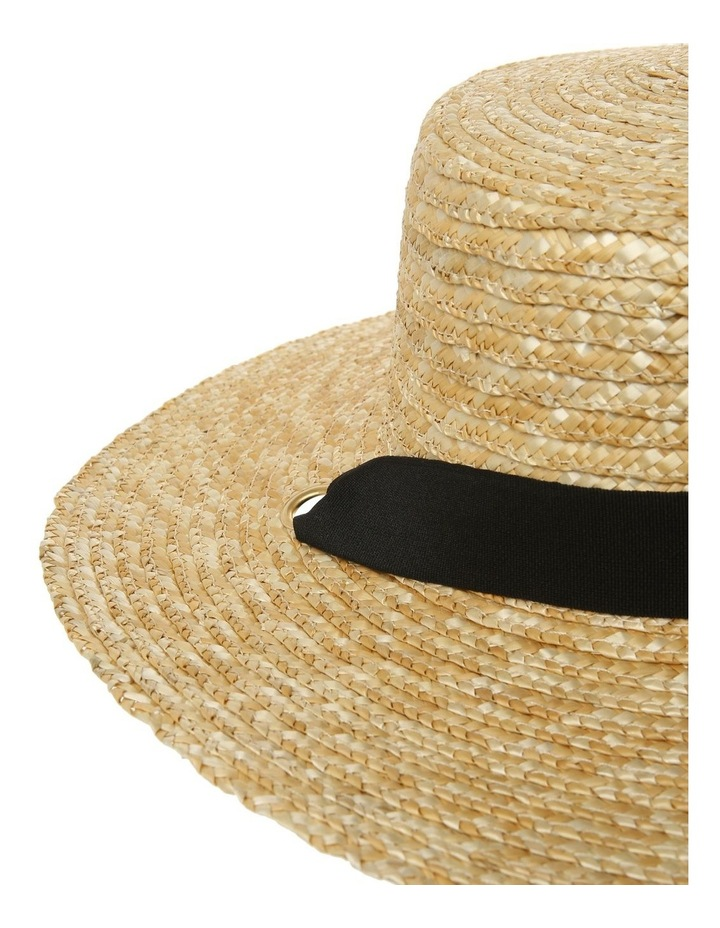 Summer Boater Hat with Sash Tie image 3