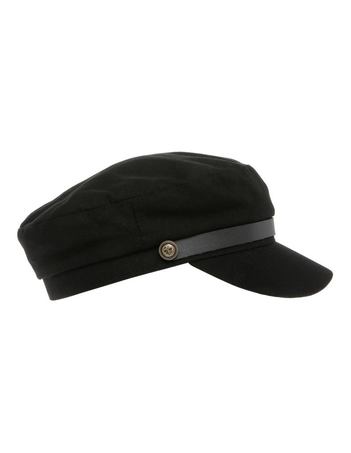 Baker Boy Summer Hat - Black image 2