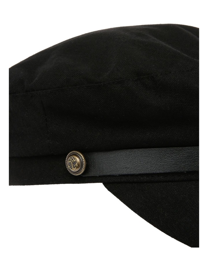 Baker Boy Summer Hat - Black image 4
