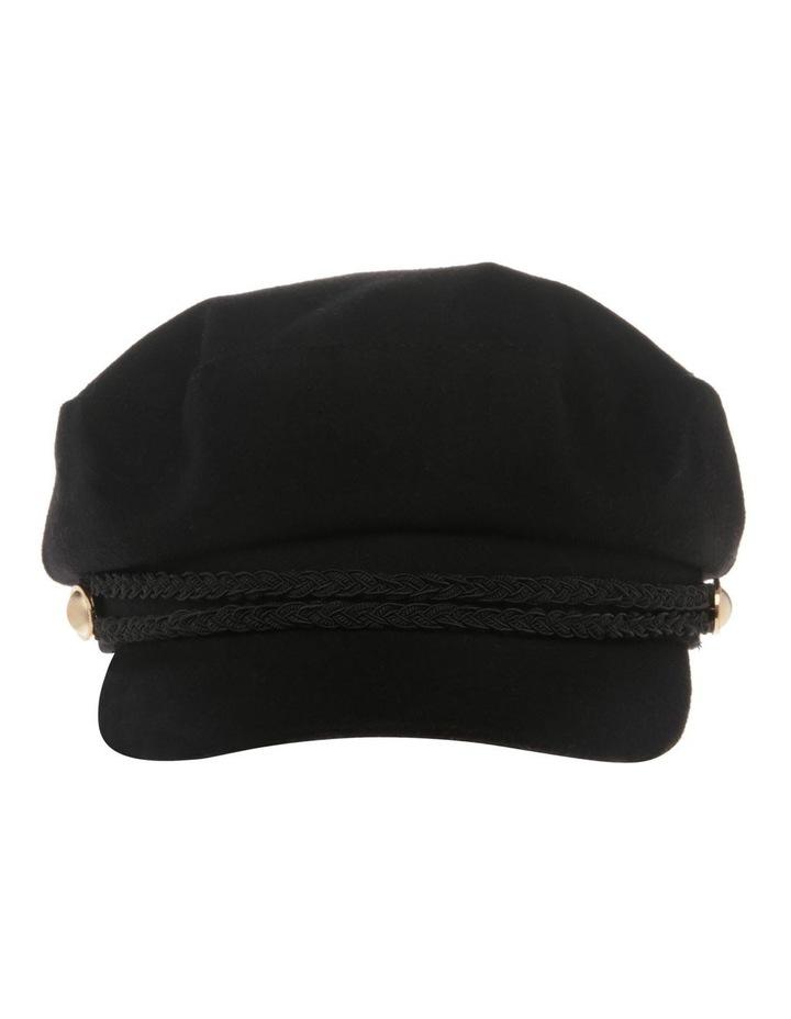 Bakerboy Cap with Plait Detail image 1
