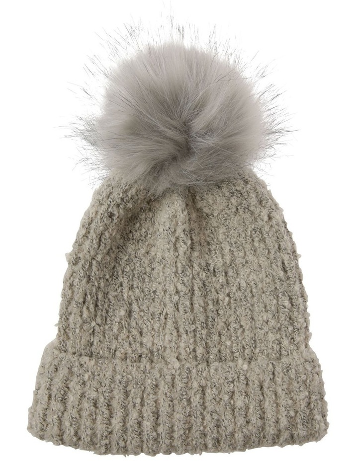Turn Up Boucle Pom Winter Hat image 1