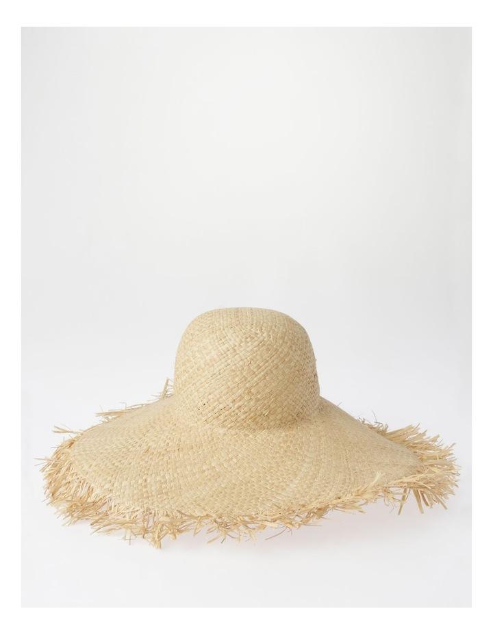 AJS2090 Wide Brim Freyed Edge Summer Hats image 1