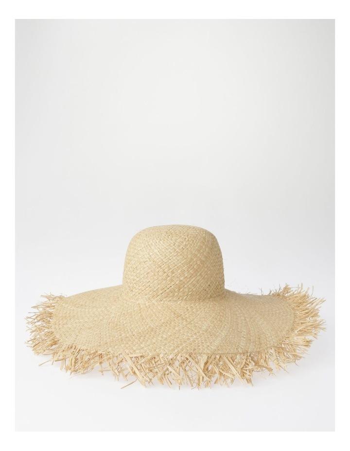 AJS2090 Wide Brim Freyed Edge Summer Hats image 2